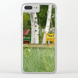 Summer Chairs Clear iPhone Case