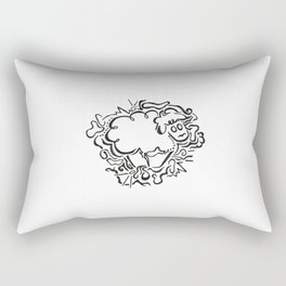 Sheep Lineart Rectangular Pillow