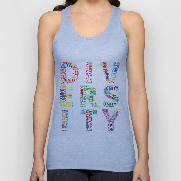 Unity in Diversity Colourful Baha'i inspired design Unisex Tank Top