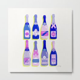 French Champagne Collection – Indigo Metal Print
