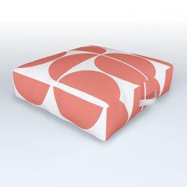 Mid Century Modern Geometric 04 Living Coral Outdoor Floor Cushion