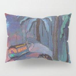 'Blue Sparks Fly' lovers winter landscape painting by Marianne von Werefkin Pillow Sham