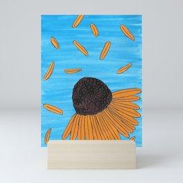Mexican Yellow Big Headed Flower Cabezona Mini Art Print
