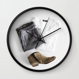 SHIRT - PANTS - BOOTS - MAN - PHOTOGRAPHY Wall Clock