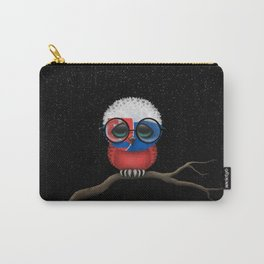 Baby Owl with Glasses and Slovakian Flag Carry-All Pouch