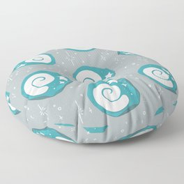 Animal Crossing Fossil Grey Floor Pillow