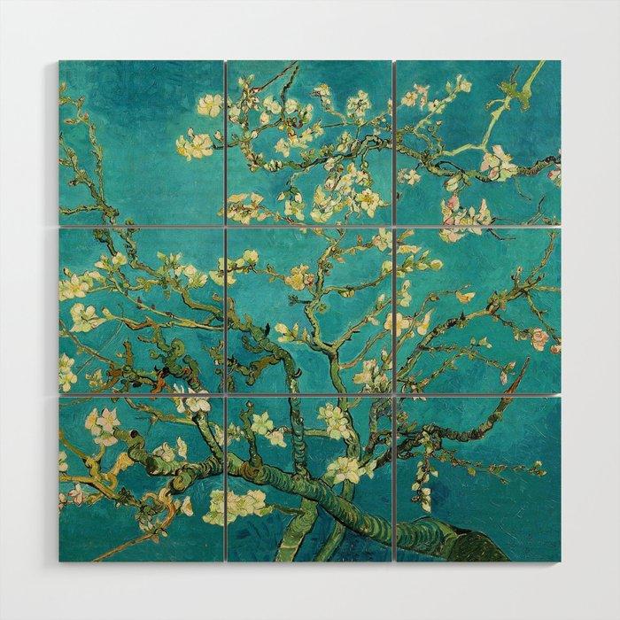 Vincent Van Gogh Blossoming Almond Tree Wood Wall Art