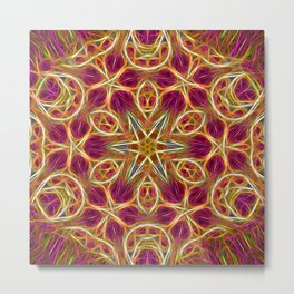 Frayed threads kaleidoscope Metal Print