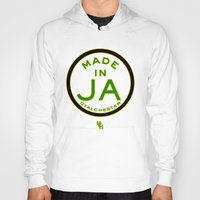 jamaica Hoodies featuring Made in Gyalchester-Jamaica by DCMBR - December Creative Group