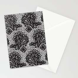 Lace in black Stationery Cards