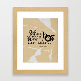 The covers of this book are too far apart. Framed Art Print
