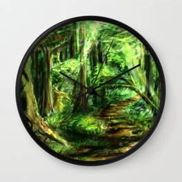 The Great Gaming Forest Wall Clock