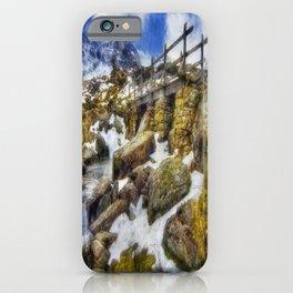 Bridge To Lake Idwal iPhone Case