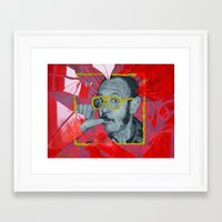 terry fan Framed Art Prints featuring Terry by Dmitry  Buldakov