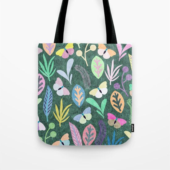 Flower and Butterfly IV Tote Bag
