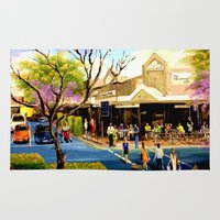 cafe Area & Throw Rugs featuring Sidewalk Cafe by Helen Syron