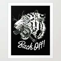 Back Off! Art Print
