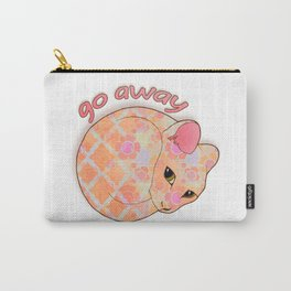 Go Away - Patterned Cat Illustration  Carry-All Pouch