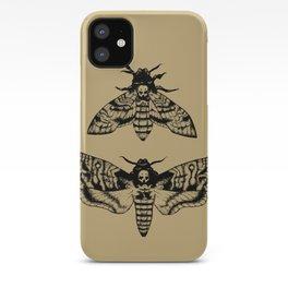 Antique Deaths Head Hawk Moth Pointillism iPhone Case
