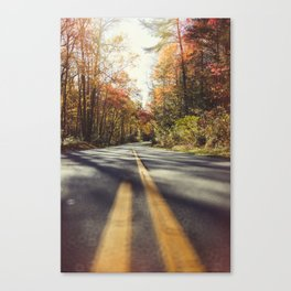 Long mountain road in autumn Canvas Print