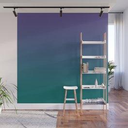Ultra Violet Quetzal Green Gradient Pattern Wall Mural