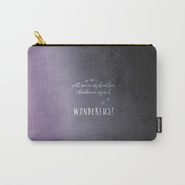 wander {violet Carry-All Pouch