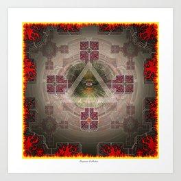 Fire and Eye Art Print
