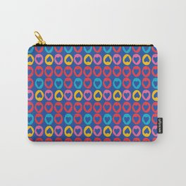 Hearts stripes blue Carry-All Pouch