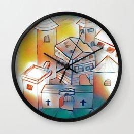Sunset Castle Wall Clock