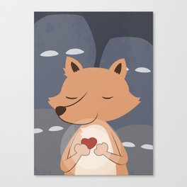 Peaceful Fox Canvas Print