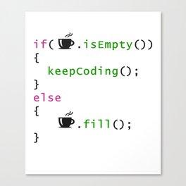 Coffee - coding syntax Canvas Print