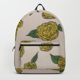 Falling Roses (yellow) Backpack