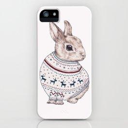 sweater rabbit iPhone Case