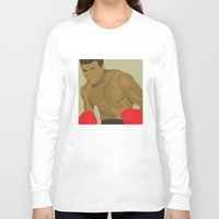 ali gulec Long Sleeve T-shirts featuring Cool image of a boxer by Studio Drawgood