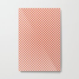 Red Strawberry Pattern Metal Print