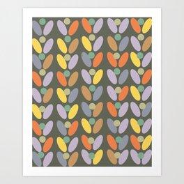 60's retro pattern Art Print