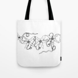 Huia Art Clematis Ribbon Tote Bag