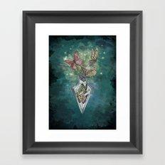 Butterfly Bottle  Framed Art Print