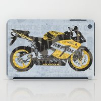 honda iPad Cases featuring Honda CBR1000 & Old Newspapers by Larsson Stevensem