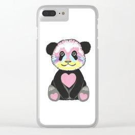 I Love Pandas Clear iPhone Case