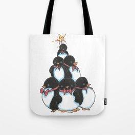 Penguin Tree Tote Bag