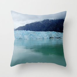 Alaska Blue Iceberg Pristine Wilderness Throw Pillow