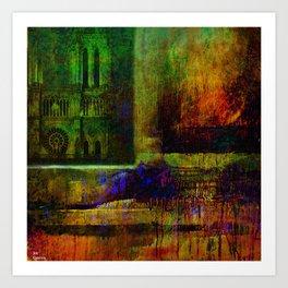 See Notre-Dame-de-Paris since the window Art Print