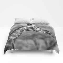 B&W Giraffe  Comforters