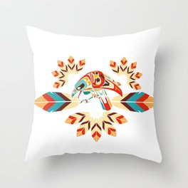 The Eagle Flies High Throw Pillow