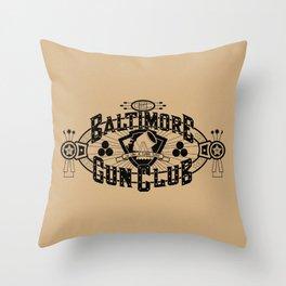 Baltimore Gun Club Throw Pillow