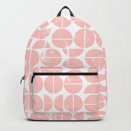 Pink Peach Circle 70s Pattern | Fun | Happy Pattern Backpack