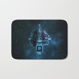 Leviathan BLUE / Keep on trucking Bath Mat