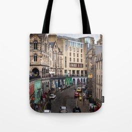 Victoria Street in Edinburgh, Scotland Tote Bag