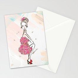 Carnation Girl Stationery Cards
